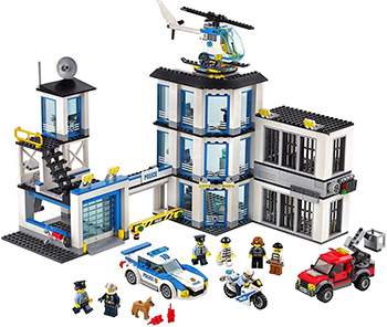 Конструктор Lego CITY Полицейский участок 60141-L models building toy compatible with lego city series 60141 965pcs police station building blocks toys