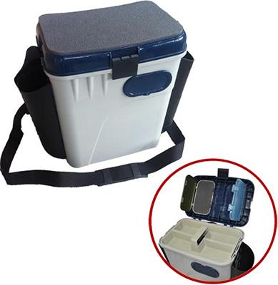 Ящик рыболовный Salmo зимний 2-х ярус. пласт. с карманами 33.5х23.5х39 см рюкзак рыболовный salmo 105л