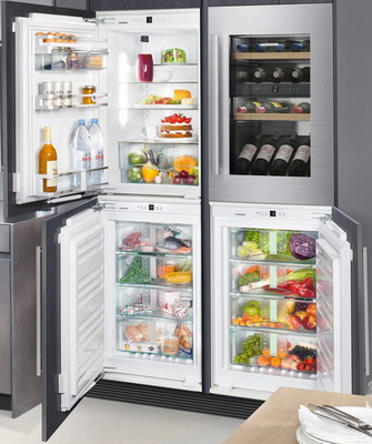 Встраиваемый холодильник Side by Side Liebherr SBS IKP 1660-20 + EWTdf 1653-20 + IGN 1664-20 + SIBP 1650-20 встраиваемый холодильник liebherr ikp 2364