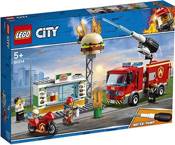 Конструктор Lego Пожар в бургер-кафе 60214 City Fire model building kits compatible with lego city fire car 586 3d blocks educational model