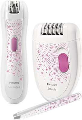 Эпилятор Philips HP 6549/00  белый с розовым philips стайлер philips hp8605 00 simplysalon curl