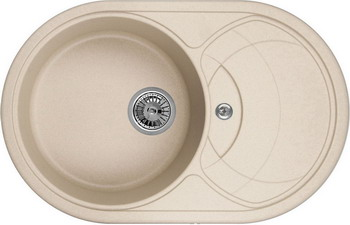 Кухонная мойка Weissgauff ASCOT 780 Eco Granit бежевый  weissgauff softline 780 eco granit светло бежевый