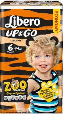 Трусики-подгузники Libero Up&Go экстра лардж 13-20 кг 44 шт   5515 libero подгузники детские every day экстра лардж 11 25кг 16шт упаковка стандартная