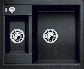 Кухонная мойка BLANCO METRA 6 SILGRANIT антрацит с клапаном-автоматом мойка blanco metra 6 s silgranit 513053 антрацит размер шхд 100см х 50см
