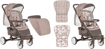 где купить Коляска прогулочная Lorelli S-300 с накидкой на ножки бежевый Beige 1840 10020841840 по лучшей цене
