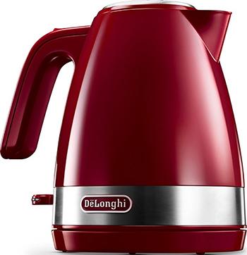 Чайник электрический DeLonghi KBLA 2000.R чайник delonghi kboe2001 r 2000вт 1 7л красный