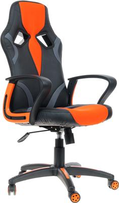 Кресло Tetchair RUNNER (кож/зам/ткань черный/оранжевый 36-6/tw 07/tw-12) кресло tetchair runner кож зам ткань черный жёлтый 36 6 tw 27 tw 12