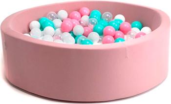 Бассейн сухой Hotnok ''Розовая мечта'' 200 шариков (розовый белый мятный прозрачный) sbh 011