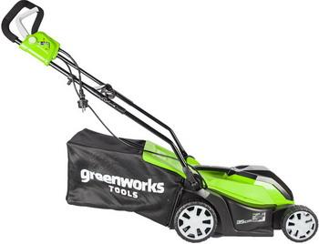 Колесная газонокосилка Greenworks GLM 1035 2505107 газонокосилка huter glm 5 0 s
