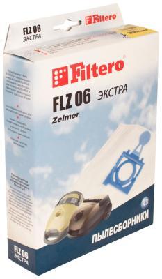 Набор пылесборников Filtero FLZ 06 (3) ЭКСТРА пылесборники filtero flz 07 4 bork zelmer