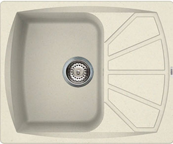 Кухонная мойка Elleci Living 125  610х500  granitek (62) Bianco Antico LGL 12562 мойка кухонная elleci ego 480 1000x500 granitek 62 lge48062