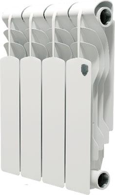 Водяной радиатор отопления Royal Thermo Revolution 350 - 4 секц. коллектор royal thermo с регулировочными вентилями 3 4x1 2 2 выхода rto 62002