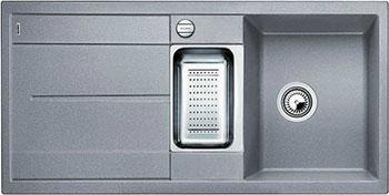 Кухонная мойка BLANCO METRA 6 S-F алюметаллик с клапаном-автоматом