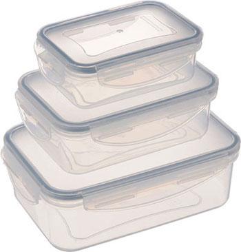 Контейнер Tescoma FRESHBOX 3шт 0.2 0.4 1.0л прямоугольный 892090 контейнер tescoma freshbox glass 1 5 л прямоугольный 892173