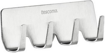 Крючок из нержавеющий стали четверной Tescoma PRESTO 420847 крючок из нержавеющий стали двойной tescoma presto 420845