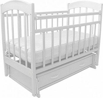 Детская кроватка Топотушки ''Ева-6'' классическая  маятник поперечный  ящик  Белый ева