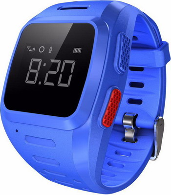 Детские часы-телефон WOCHI GOZO Синие children s smart watch with gps camera pedometer sos emergency wristwatch sim card smartwatch for ios android support english e