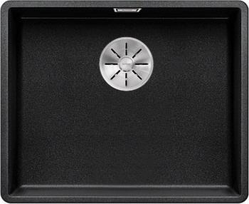 Кухонная мойка BLANCO SUBLINE 500-F антрацит с отв.арм. InFino 523532