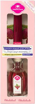 Арома-диффузор CRISTALINAS Mikado для жилых помещений с ароматом клубники и карамели 90 мл