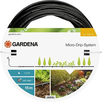 """Шланг сочащийся Gardena для наземной прокладки 4.6 мм (3/16"""") 01362-20 шланг сочащийся х 1м в бухте 100м gardena 01987"""