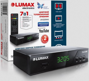 Цифровой телевизионный ресивер Lumax DV 3205 HD черный цифровой телевизионный ресивер lumax dv 4201 hd