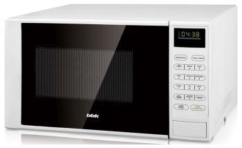 Микроволновая печь - СВЧ BBK 20 MWG-735 S/W белый микроволновая печь свч bbk 23 mwg 930 s bw чёрный белый