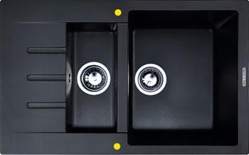 Кухонная мойка Zigmund amp Shtain RECHTECK 775.2 черный базальт