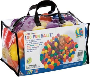 Набор мячей для сухого бассейна Intex 49602 набор для чистки бассейна intex 28002