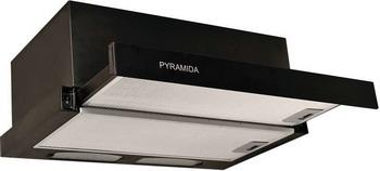 Встраиваемая вытяжка Pyramida TL 60 BLACK/N  вытяжка pyramida tl 60 inox