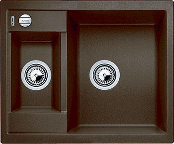 Кухонная мойка BLANCO METRA 6 SILGRANIT кофе с клапаном-автоматом  blanco metra 45s f с клапаном автомата аллюметаллик