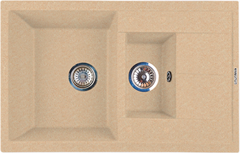 все цены на Кухонная мойка LAVA D.4 (DUNE светлый беж) онлайн