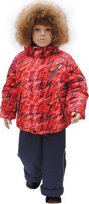 все цены на Комплект одежды Русланд принт Зигзаг Рт.110 Красный онлайн