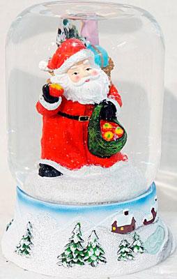 Шар декоративный Новогодняя сказка Дед Мороз 9х11 см (972089) снежный шар сима ленд дед мороз прячет подарки 14x10 5x10 5cm музыкальный 2005341