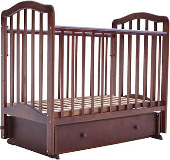 Детская кроватка Лаура 5 маятник поперечный ящик шоколад лаура 3 маятник поперечный без ящика махагон
