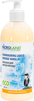 Бальзам для мытья посуды NORDLAND Апельсин-ваниль чистящее средство для пластика nordland 391336