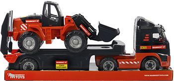 Автомобиль-трейлер и трактор-погрузчик Полесье 204-03 MAMMOET VOLVO (в лотке) машина пламенный мотор volvo v70 пожарная охрана 870189