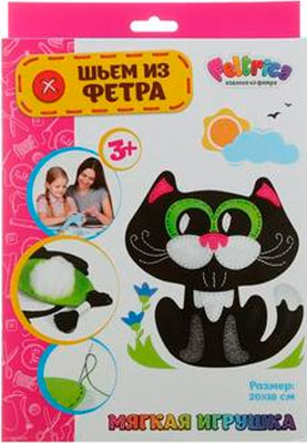 Набивная игрушка Feltrica ''Шьем из фетра'' Кот черный 4627130653287