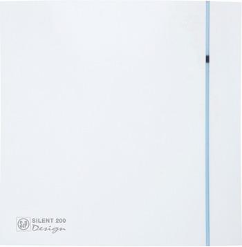 Вытяжной вентилятор Soler amp Palau SILENT-200 CRZ DESIGN-3C (белый) 03-0103-129 вентилятор solerpalau silent 200 crz silver design 3с