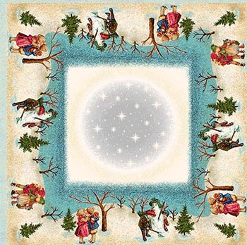 Салфетка Le Gobelin Зимние забавы 100х100 7436 зимние забавы раскраска