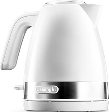 Чайник электрический DeLonghi KBLA 2000.W мультиварка delonghi fh 1394 2300 вт 5 л белый черный