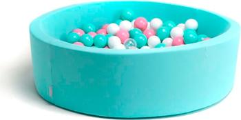 Бассейн сухой Hotnok ''Клубничное мороженное'' 200 шариков (мятный розовый белый прозрачный) sbh 024 lori клубничное лукошко