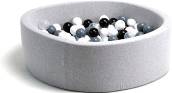 Бассейн сухой Hotnok ''Морская пена'' 200 шариков (белый черный серый прозрачный) sbh 010 клей для ресниц catrice lash glue 010 цвет 010 прозрачный variant hex name ffffff
