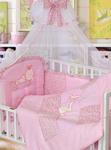 Комплект постельного белья ЗОЛОТОЙ ГУСЬ Кошки-Мышки 7 предметов 100% хлопок (розовый)