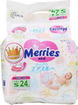 подгузники Merries Air Through 4-8 кг S 24 шт