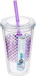 Стакан Frybest AC1-01 с трубочкой (500 мл) Фиолетовый
