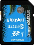 Карта памяти Kingston SDHC 32 Gb Class 10  SDA 10/32 GB UHS-I 60/35