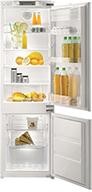 Встраиваемый двухкамерный холодильник Korting