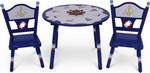 Набор из стола и двух стульев Major-kids Маленький Капитан синий