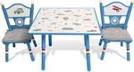 Набор из стола и двух стульев Major-kids Транспорт голубой