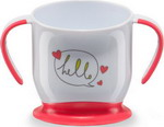 Посуда для детей Happy Baby BABY CUP WITH SUCTION BASE 15022 RED